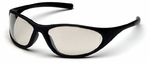 Pyramex Zone 2 Safety Glasses with Black Frame and Indoor-Outdoor Lens