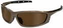 Radians Chaos Safety Glasses with Mocha Frame and Coffee Lens