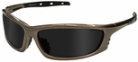 Radians Chaos Safety Glasses with Mocha Frame and Smoke Lens