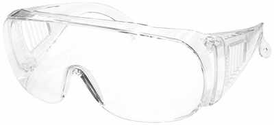Radians Chief Overspec Safety Glasses with Clear Lens (Made In USA)