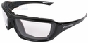 Radians Extremis Safety Glasses with Black Gloss Frame and Clear Anti-Fog Lens with Foam Seal