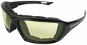 Radians Extremis Safety Glasses with Black Gloss Frame and Low IR Anti-Fog Lens with Foam Seal