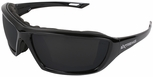 Radians Extremis Safety Glasses with Black Gloss Frame and Smoke Anti-Fog Lens with Foam Seal