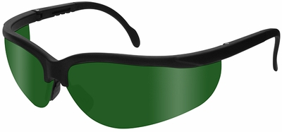 Radians Journey Safety Glasses with Black Frame and Shade 5 Lens