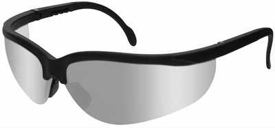 Radians Journey Safety Glasses with Black Frame and Silver Mirror Lens