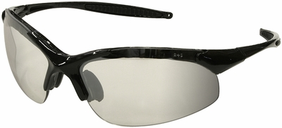 Radians Rad-Infinity Safety Glasses with Black Frame and Indoor-Outdoor Lens