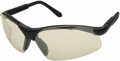 Radians Revelation Safety Glasses with Black Frame and Indoor-Outdoor Lens