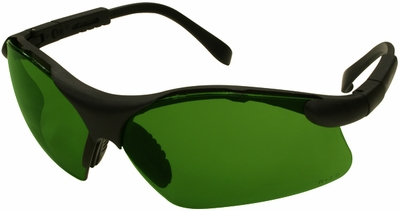 Radians Revelation Safety Glasses with Black Frame and Shade 3 Lens