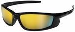 Radians Voltage Safety Glasses with Black Frame and Electric Orange Lens
