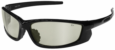 Radians Voltage Safety Glasses with Black Frame and Indoor-Outdoor Lens
