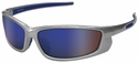 Radians Voltage Safety Glasses with Silver Frame and Electric Blue Lens
