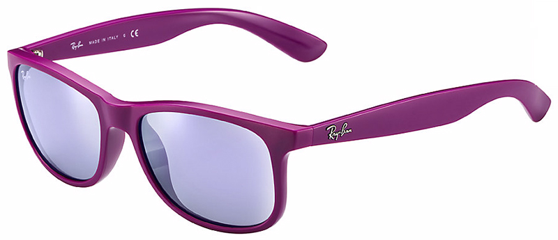 Ray-Ban Andy Sunglasses with Matte Violet Frame and Grey ...