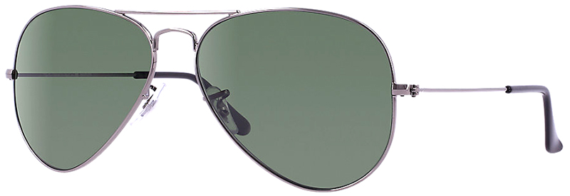 Ray-Ban Aviator Large Metal Sunglasses with Silver Frame ...