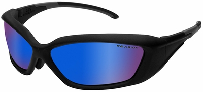 Revision Hellfly Ballistic Sunglasses with Matte Black Frame and Midnight Mirror Lens