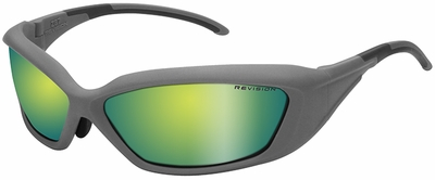 Revision Hellfly Ballistic Sunglasses with Silver Frame and Ocean Mirror Lens
