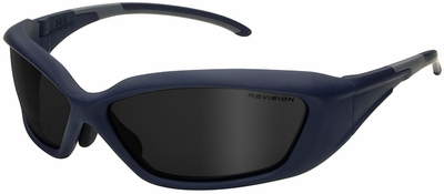Revision Hellfly Ballistic Sunglasses with Steel Blue Frame and Smoke Lens
