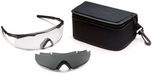 Smith Elite Aegis ARC Tactical Eyeshield Kit with Black Frame and Clear and Gray Lenses