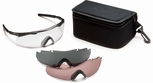 Smith Elite Aegis ARC Tactical Eyeshield Range Kit with Black Frame and Clear, Gray and Ignitor Lenses