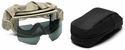 Smith Elite Outside The Wire Military Goggle Safety Glasses Field Kit with Desert Tan Frame and Clear and Gray Lenses