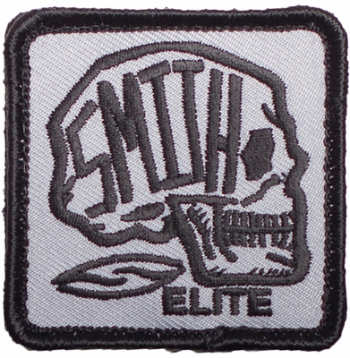 Smith Elite Skull Patch with Velcro Backing - Black