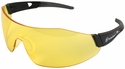 Smith & Wesson 44-Magnum Safety Glasses with Black Temples and Amber AF Lens