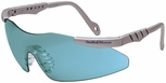 Smith & Wesson Magnum Elite Safety Glasses with Platinum Frame and Teal Lens