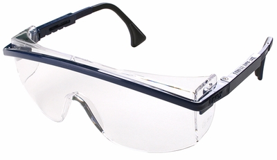 Uvex Astrospec 3000 Safety Glasses with Black Frame/Duoflex Temples and Clear XTR Anti-Fog Lens
