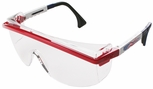 Uvex Astrospec 3000 Safety Glasses with Patriot RWB Frame/Duoflex Temples and Clear XTR AF Lens