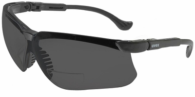 Uvex Genesis Bifocal Safety Glasses with Gray Ultra-Dura Lens