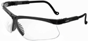 Uvex Genesis Safety Glasses with Black Frame and Clear Lens