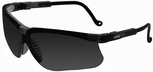 Uvex Genesis Safety Glasses with Black Frame and Dark Gray Uvextreme Anti-Fog Lens
