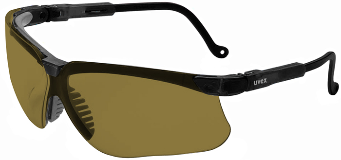 Uvex Genesis Safety Glasses with Black Frame and Espresso Lens