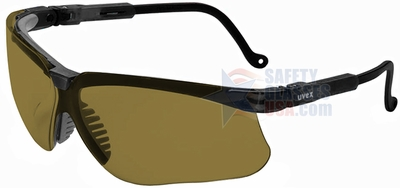 Uvex Genesis Safety Glasses with Black Frame and Espresso XTR Lens