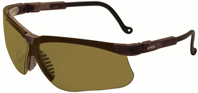Uvex Genesis Safety Glasses with Earth Frame and Espresso Lens