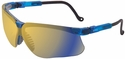 Uvex Genesis Safety Glasses with Vapor Blue Frame and Mirror Lens