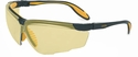 Uvex Genesis X2 Safety Glasses with Black/Yellow Frame and Amber Ultra-Dura Lens