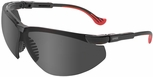 Uvex Genesis XC Safety Glasses with Black Frame and Gray Anti-Fog Lens