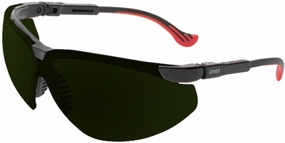 Uvex Genesis XC Safety Glasses with Black Frame and Shade 5 Lens