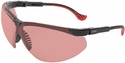 Uvex Genesis XC Safety Glasses with Black Frame and Vermillion Lens