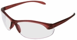Uvex W200 Series with Dusty Rose Frame and Clear Hardcoat Lens