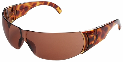 Uvex W300 Series Safety Glasses with Tortoise Shell Frame and Autumn Rose-Silver Mirror Hardcoat Lens