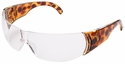 Uvex W300 Series Safety Glasses with Tortoise Shell Frame and Clear Hardcoat Lens