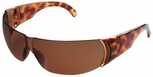 Uvex W300 Series Safety Glasses with Tortoise Shell Frame and Espresso Hardcoat Lens