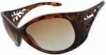 Vast Pili Women's Safety Sunglasses with Tortoise Frame and Brown Gradient Lens