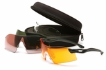 Venture Gear Dropzone Safety Eyewear Kit with Black Frame and Clear, Smoke Green, Orange and Vermillion Lenses