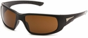 Venture Gear Montello Safety Sunglasses with Black Frame and Bronze Anti-Fog Lens