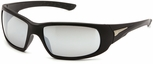 Venture Gear Montello Safety Sunglasses with Black Frame and Silver Mirror Anti-fog Lens
