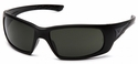 Venture Gear Montello Safety Sunglasses with Black Frame and Smoke Green Anti-Fog Lens