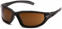 Venture Gear Ocoee Safety Sunglasses with Black Frame and Bronze Anti-Fog Lens
