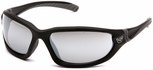 Venture Gear Ocoee Safety Sunglasses with Black Frame and Silver Mirror Anti-Fog Lens